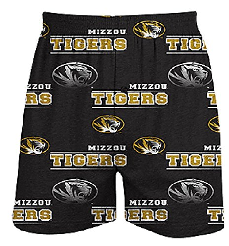 Missouri Tigers Mens Black Oversized Fusion Boxer Shorts by