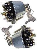 ディーゼルエンジン キースイッチ スターター 汎用 キー 2個付き 農機 建機 トラクター フォークリフト (2個)