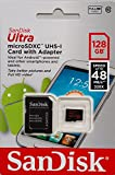 SanDisk 128GB Ultra Class 10 Micro SDXC up to 48MB/s with Adapter (SDSDQUAN-128G-G4A) [Newest Version]