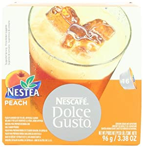 Nescaf Dolce Gusto for Nescaf Dolce Gusto Brewers, Nestea Peach, 16 Count (Pack of 3)