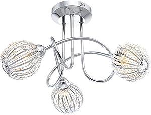 globo 56102-3D G9 33 Watt Degray Ceiling Lamp, Chrome by globo