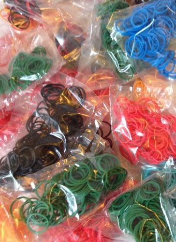 Grab Bag! Refill Rubber Bands for Any Loom Kit (6) Lots of 100 = 600 Total -Colors Vary-