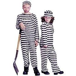Kids Jailbird Inmate Convict Small Halloween Costume 4-6