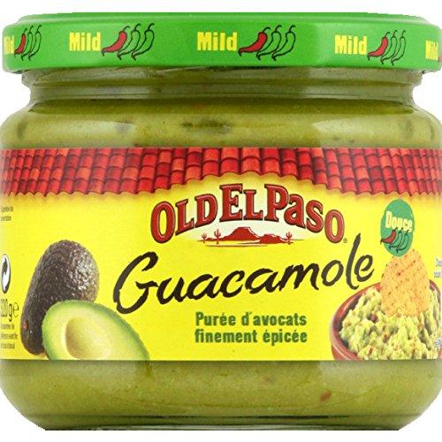 Old El Paso - Guacamole, purée d'avocats finement épicée - Le pot de 320g - (pour la quantité plus que 1 nous vous remboursons le port supplémentaire)