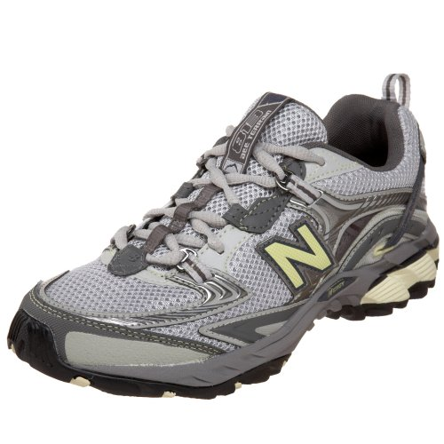 New Balance Women's WT813 Trail Running Shoe,Grey/Yellow,6 B