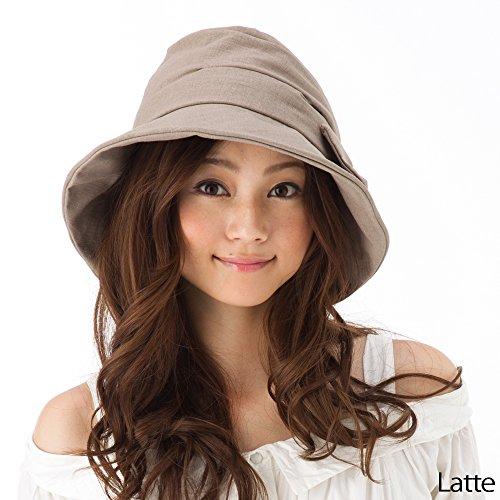 帽子 UV ハット 大きいサイズ つば広 レディース 紫外線カット 春 夏 小顔効果抜群 商品名 サイドリボンQueenハット BIGサイズ(63cm)-ラテ