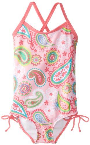 Kanu Surf Little Girls' Secret Garden One Piece Swimsuit, Pink, 2T front-12461
