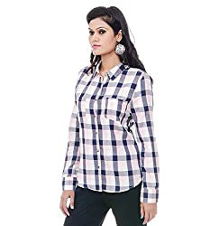Instinct Women's Shirt (ET50907PBW_Pink Grey White_Small)