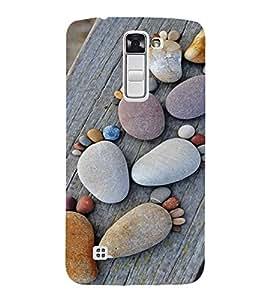 PrintVisa Cute Beach Stone Art Design 3D Hard Polycarbonate Designer Back Case Cover for LG K10