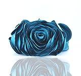 2015 Mini Bags Flower Bride Bag Purse full dress Party Purses and Handbags Women Evening Purse Lady Gift (Blue)