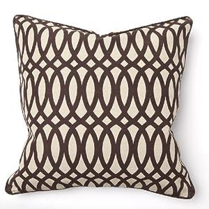 Geo Print Brown Throw Pillow - Set of 2