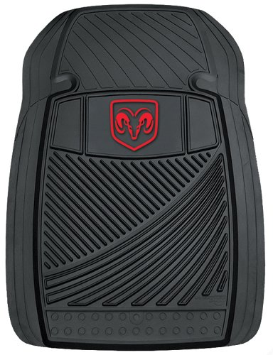Dodge WeatherPro Trim-To-Fit Molded Front Floor Mats - Set of 2