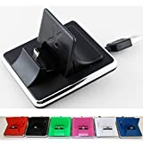 COMPACT-X Universal Docking Station, Tischladestation, Dock für Handy, Smartphone und Tablet + 1x Micro USB Datenkabel, Passend für Samsung Galaxy S / S2 / S3 / S4, Sony Xperia / Ericsson, LG, Motorola, HTC One, Nokia, Blackberry, iPhone 1 / 2 / 3 / 4 / 4s, iPad