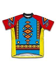 Diamond Patterns Short Sleeve Cycling Jersey for Women