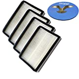 HQRP Filter 4-Pack for Panasonic MC-CG917 MC-CG937 MC-UG729 MC-UG725 MC-GG523 MC-CG301 MC-CG983 Ultra Pro Upright Vac Vacuum Cleaner + HQRP Coaster
