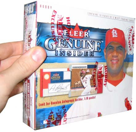 2004 Fleer Genuine Insider Baseball Cards Hobby Box (24 packs/box)