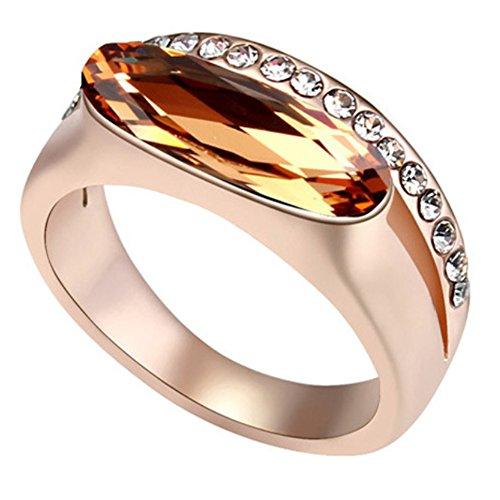 "RI96034C3-9 New Style ""Transmigration"" Austrian Crystal Gilded Ring"