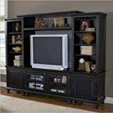 Hillsdale Grand Bay Small Entertainment Wall Unit - Black