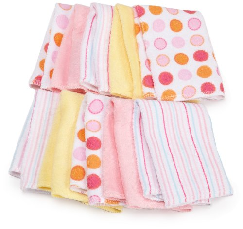 Spasilk 10 pack Soft Terry Washcloth, Pink