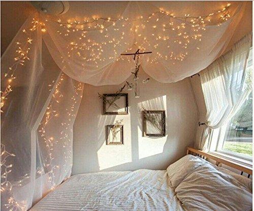 100er-LED-Lichterkette-Warmwei-Innen-fr-Weihnachten-Hochzeit-Zimmer-Beleuchtung-220V-8-Funktiontypen-Memory-Verlngerbar-warmwei