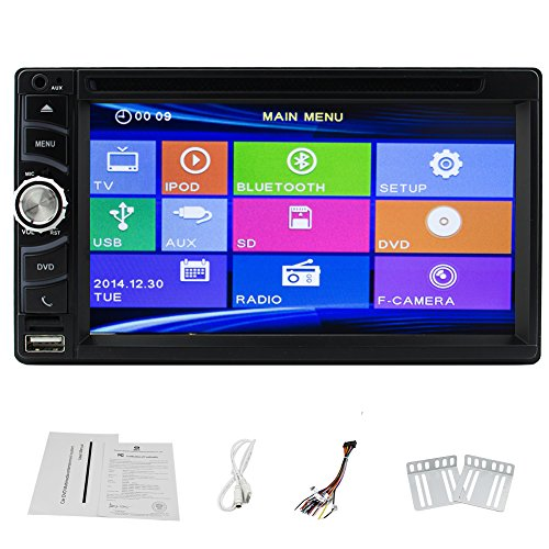 Auto ricevitore radio con lettore CD Video DVD Doppio Din unitš€ principale BT Audio Car Stereo PC Sistema audio in precipitare TFT Touch logo RDS Sub AMP