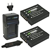 Wasabi Power Battery (2-Pack) and Charger for Casio NP-130 NP-130A and Casio Exilim EX-10 EX-H30 EX-ZR100 EX-ZR200...