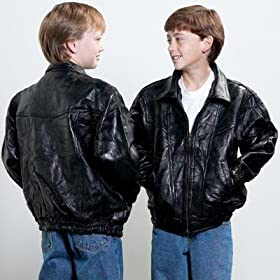 Child's Leather Bomber Jacket
