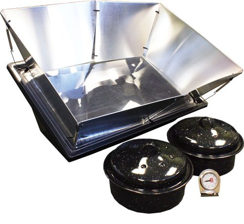SOS Sport Solar Oven Combo - Solar Oven, 2 Pots, Thermometer, Manual, Recipe Booklet, WAPI (Water Pasteruization Indicator) and Solar Reflector