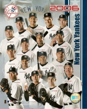 2006 New York Yankees Team Composite Color 8X10 front-10649