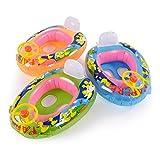 CLE DE TOUS - Flotador para Niños Niñas Bebés de 15-20kg en Forma de Coche con Dibujo Pato Color Aleatorio #153