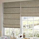 Presto Bazaar Beige Solid Velvet Window Blind (84 Inch X 44 Inch)