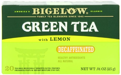 Bigelow Decaffeinated Green Tea With Lemon, 20-Count Boxes (Pack Of 6) front-341738