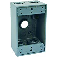 Hubbell 5922-0 Do it Weatherproof Outdoor Outlet Box-1 GANG GRAY OUTDOOR BOX