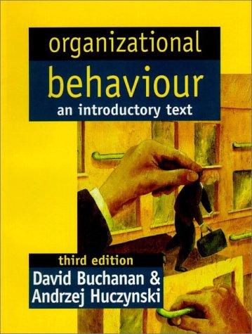 Organizational Behaviour : An Introductory Text