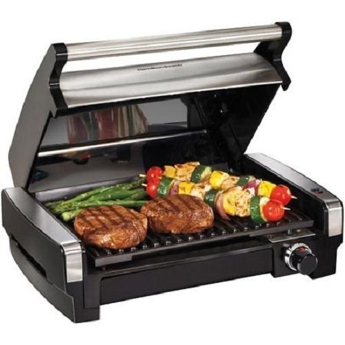 NEW Hamilton Beach 25361 Indoor Searing Grill w/ Lid Viewing Window by Nue Boss (Indoor Grill Searing compare prices)