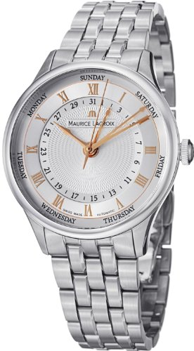 Maurice Lacroix Masterpiece Men'S Day Date Automatic Watch Mp6507-Ss002-111
