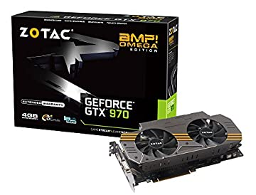ZOTAC GeForce GTX 970AMP Omega NVIDIA Game Bundle 2014 グラフィックスボード VD5598 ZTGTX97-4GD5OMG02
