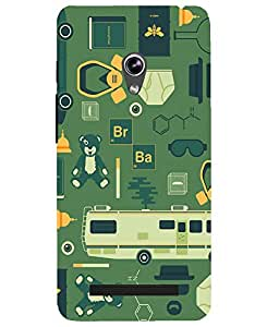 Astrode Printed Designer Back Cover Case for Asus Zenfone 5