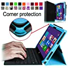 [Corner Protection] Fintie Folio Case for Microsoft Surface Pro / Surface Pro 2 Windows 8 Tablet 10.6 Inch Premium Leather Cover with Stylus Holder (Does not Fit Windows RT Version) - Blue