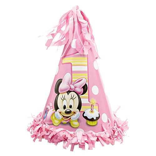 Minnie's 1st Birthday Fringe Cone Hat
