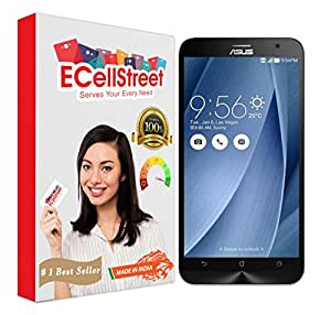 ECellStreet Premium Tempered Glass 0.3mm Tempered Glass Screen Protector For Asus Zenfone 2 Laser 5.0 (5 inches) ZE500KL