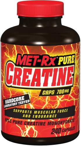 MET-Rx Pure Creatine Muscle Force and Endurance Capsules - Tub of 240