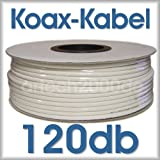 "Satkabel 8,2mm 120db Stahlkupfer KKS 120-82 100m Rolle HDTV tauglichvon ""KKS-120"""
