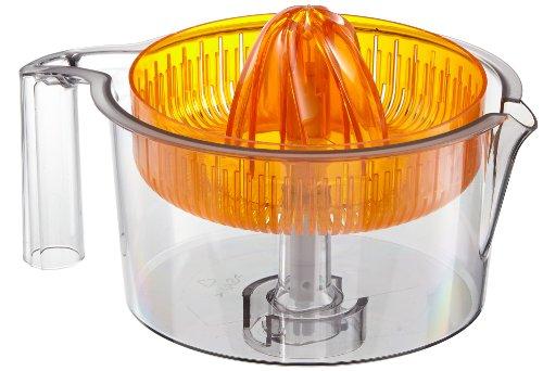 Bosch MUZ5ZP1 Spremiagrumi trasparente con parte conica arancione, compatibile con robot da cucina MUM5