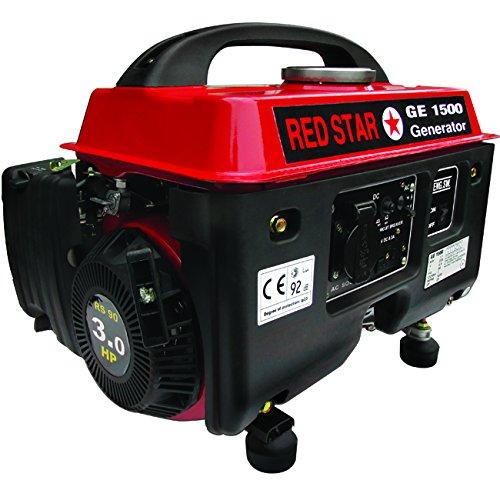Mosa 5311010 Generatori Red-Star GE-1500, Motore Benzina, 4 Tempi, 90CC, 1.1 kW