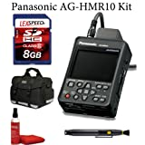 Panasonic AG-HMR10 Handheld AVCCAM HD Recorder/Player + Deluxe Case + Air Blower + Lens Cleaning Brush + 8GB Memroy Card