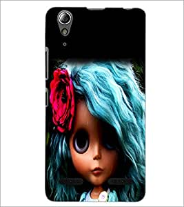 PrintDhaba Blue Hair Doll D-1045 Back Case Cover for LENOVO A6000 PLUS (Multi-Coloured)
