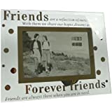 Sixtrees Moments Forever Friends Glass and Mirror 6 x 4 Photo Frame