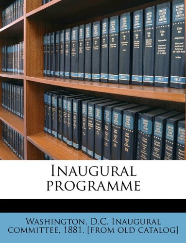 Inaugural programme
