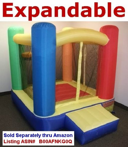 "Надувной батут New Improved - My Bouncer Little Castle Ball Pit Bounce Bopper 78"" L x 78"" W x 72"" H w/ Ball Hoop & Landing - Phthalate Free Puncture Resist Nylon Material (Multiple Models & Sizes Available, Sold thru Separate Amazon Listing)"